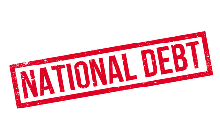 National Debt rubber stamp Stock Photo