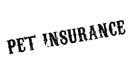 white backing: Pet Insurance rubber stamp Stock Photo