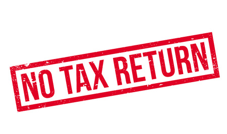 occurrence: No Tax Return rubber stamp Stock Photo