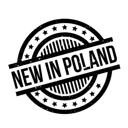 New In Poland rubber stamp Illustration