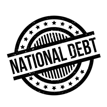 National Debt rubber stamp Illustration