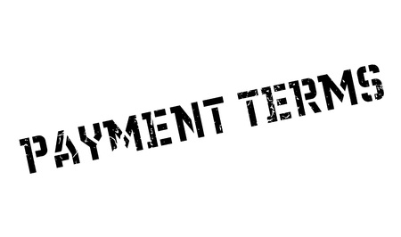 stipulation: Payment Terms rubber stamp Illustration