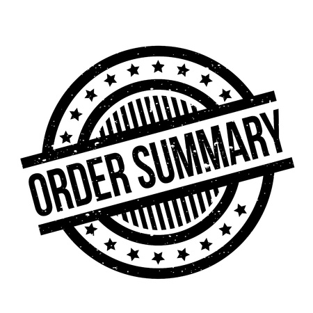 Order Summary rubber stamp