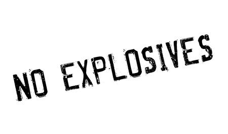 No Explosives rubber stamp Illustration