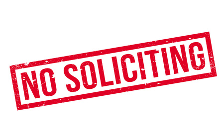 No Soliciting rubber stamp
