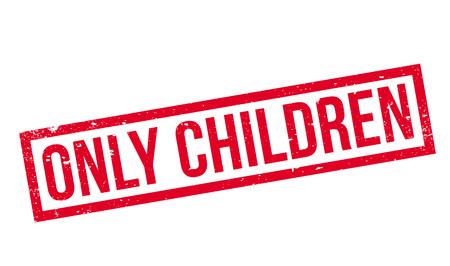 Solo bambini timbro di gomma Archivio Fotografico - 77826025