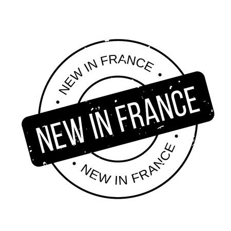 New In France rubber stamp Illustration