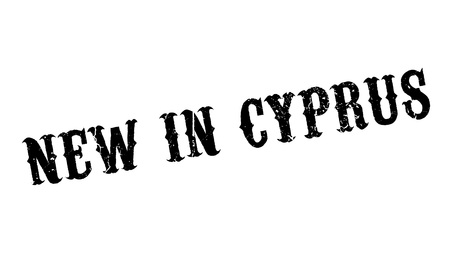 corsica: New In Cyprus rubber stamp Illustration