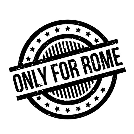 purely: Only For Rome rubber stamp