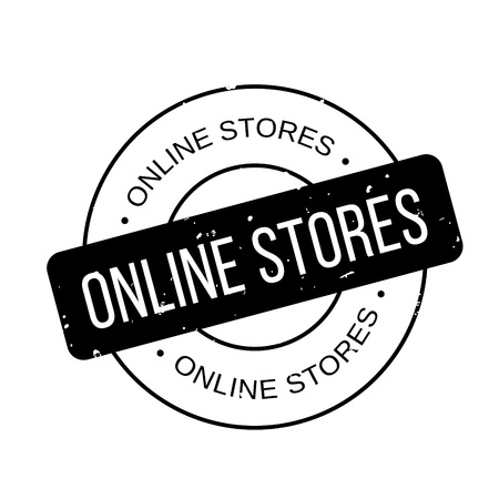 operative: Online Stores rubber stamp Illustration