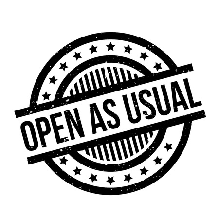 Open As Usual rubber stamp Illustration