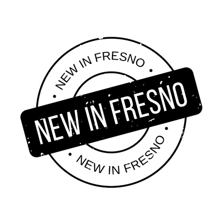New In Fresno rubber stamp Illustration