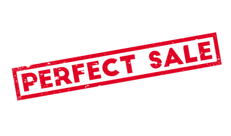Perfect Sale rubber stamp Banco de Imagens - 77790042