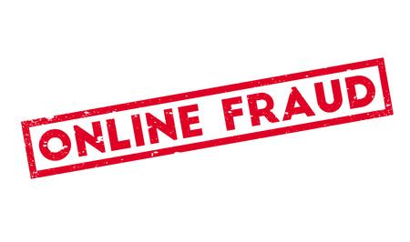 hacked: Online Fraud rubber stamp Illustration