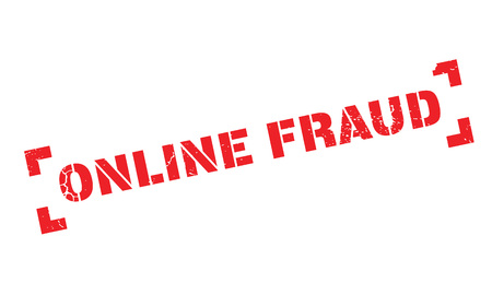 Online Fraud rubber stamp Illustration