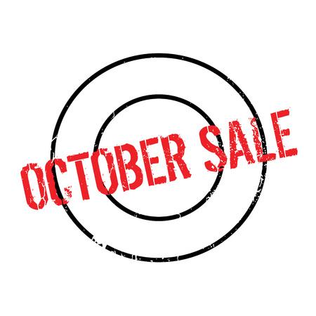 October Sale rubber stamp