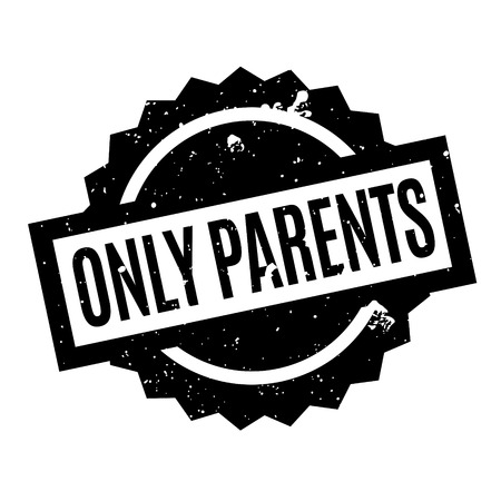 Only Parents rubber stamp Ilustração
