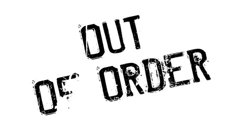 uniformity: Out Of Order rubber stamp
