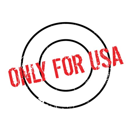 purely: Only For Usa rubber stamp