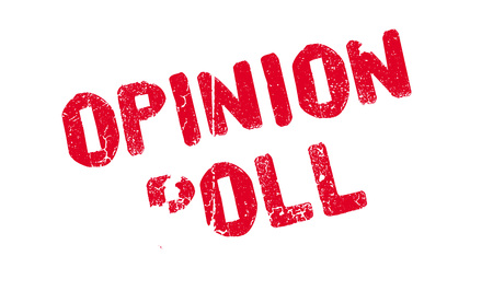 Opinion Poll rubber stamp Stok Fotoğraf - 77857969