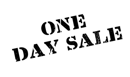 One Day Sale rubber stamp Ilustração