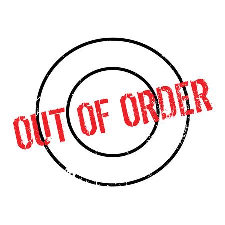 注文のゴム製スタンプを  イラスト・ベクター素材