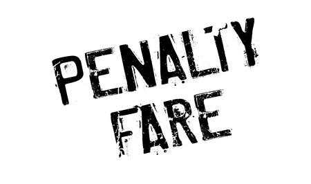 fare: Penalty Fare rubber stamp