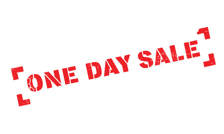 definite: One Day Sale rubber stamp Illustration