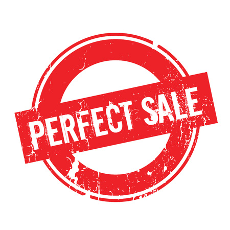 Perfect Sale rubber stamp Illustration