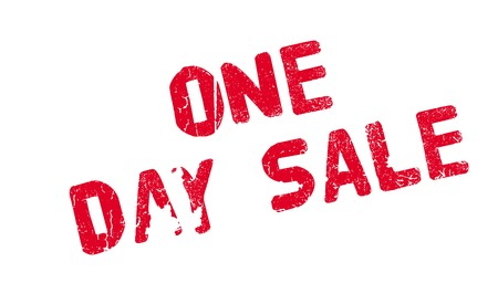 One Day Sale rubber stamp Illustration