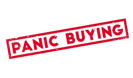 Panic Buying rubber stamp Illustration