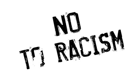 biased: No To Racism rubber stamp Illustration