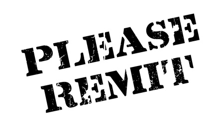 remit: Please Remit rubber stamp