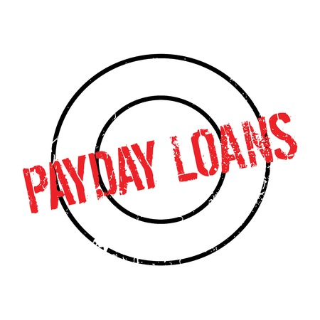 Payday Loans rubber stamp Illustration