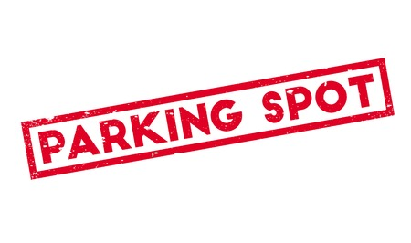 Parking Spot rubber stamp