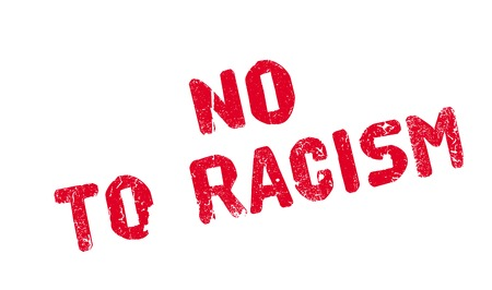 No To Racism rubber stamp Illustration