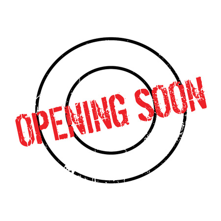 Opening Soon rubber stamp