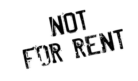 can not: Not For Rent rubber stamp. Grunge design with dust scratches. Effects can be easily removed for a clean, crisp look. Color is easily changed.