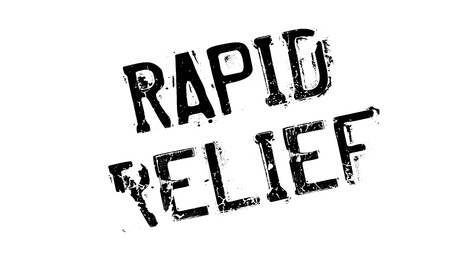 relieve: Rapid Relief rubber stamp Stock Photo