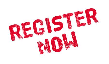immediately: Register Now rubber stamp Illustration
