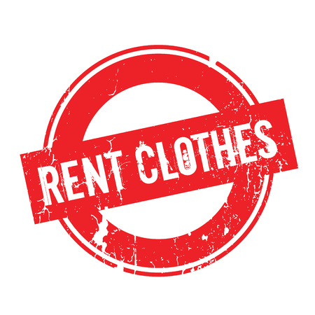 Rent Clothes rubber stamp