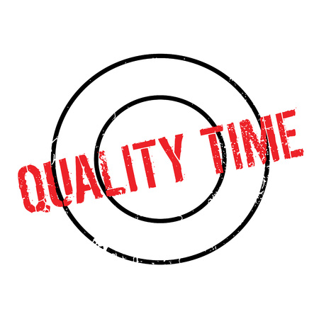 Quality Time rubber stamp Illustration
