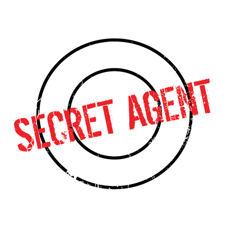 Secret Agent rubber stamp Illustration