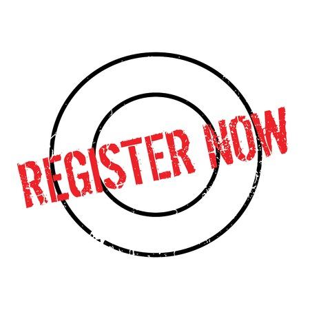Register Now rubber stamp Illustration