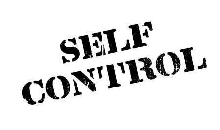 narcissistic: Self Control rubber stamp Illustration