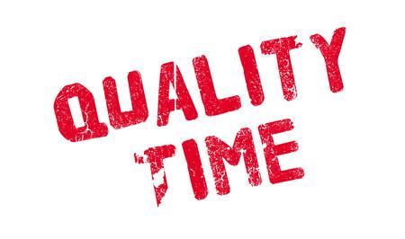 Quality Time rubber stamp Banco de Imagens - 77859182