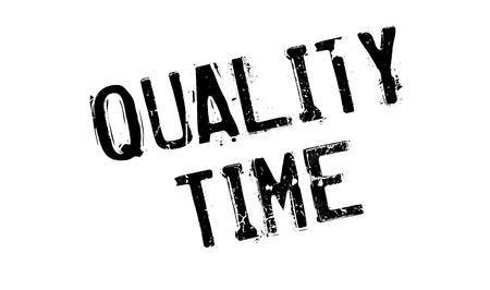 Quality Time rubber stamp Banco de Imagens - 77845628