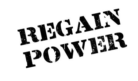 Regain Power rubber stamp