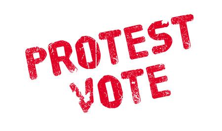 Protest Vote rubber stamp Illustration