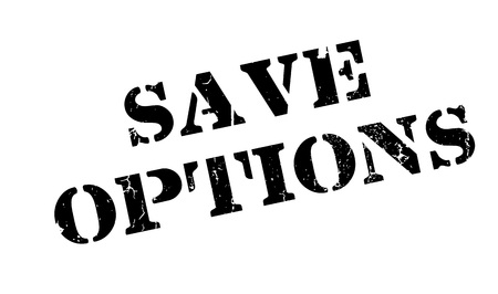 Save Options rubber stamp
